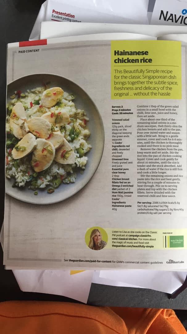 The recipe was published on The Guardian.