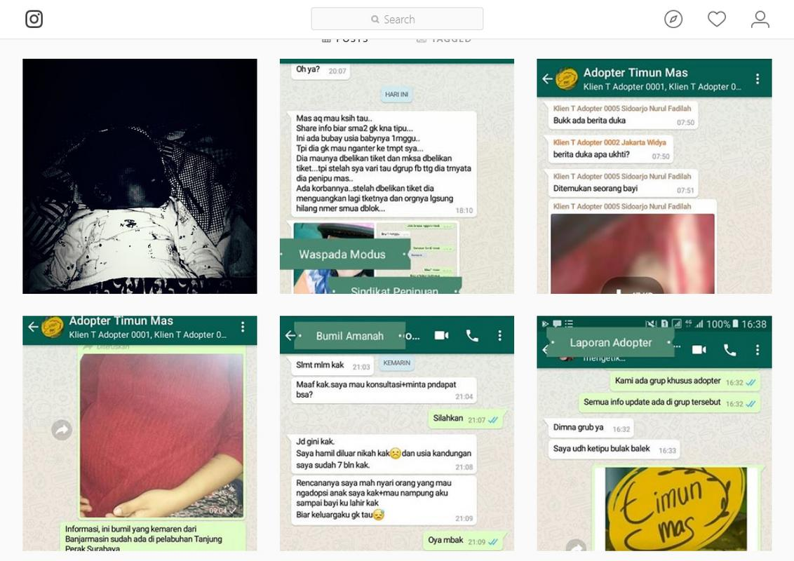 Screenshots of alleged conversations between buyers and seller.