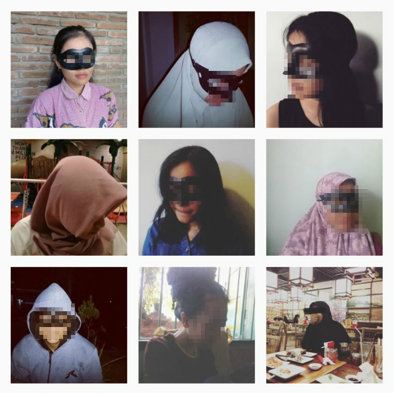 Images of the mothers wearing masks on the page.
