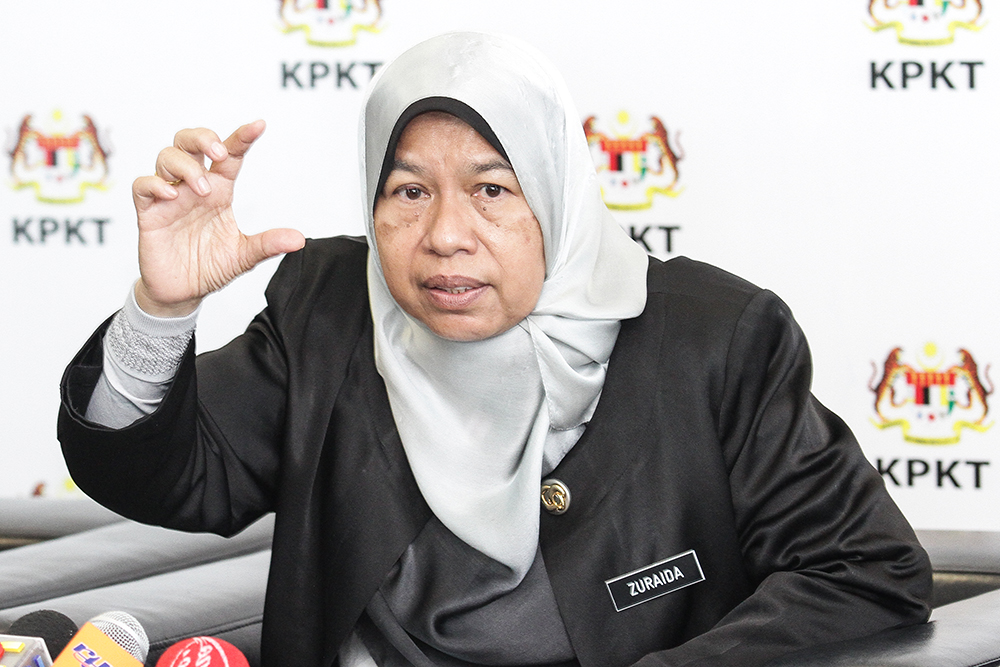 Housing and Local Government Minister Zuraida Kamaruddin
