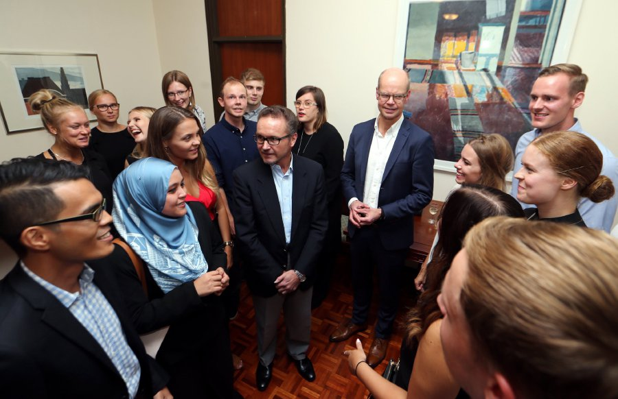 Finnish representatives and exchange students during their visit to Malaysia in 2017.