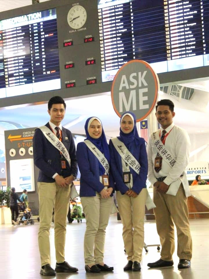 klia klia2 airport officials mandarin speaking