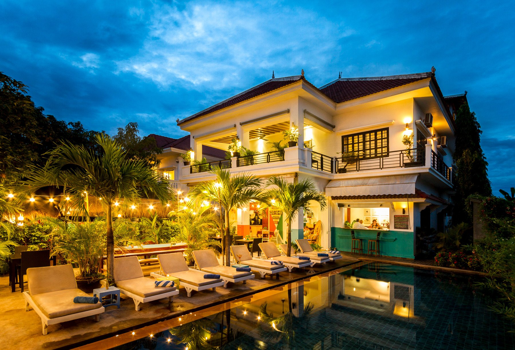 baby elephant boutique hotel siem reap cambodia night