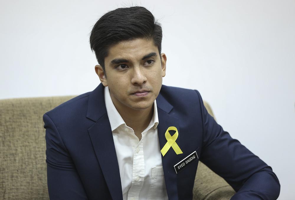 youth and sports minister syed saddiq