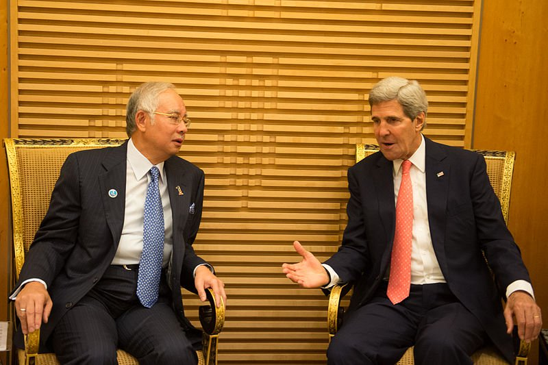 A file photo from 2013 of Najib meeting with U.S. Secretary of State John Kerry.
