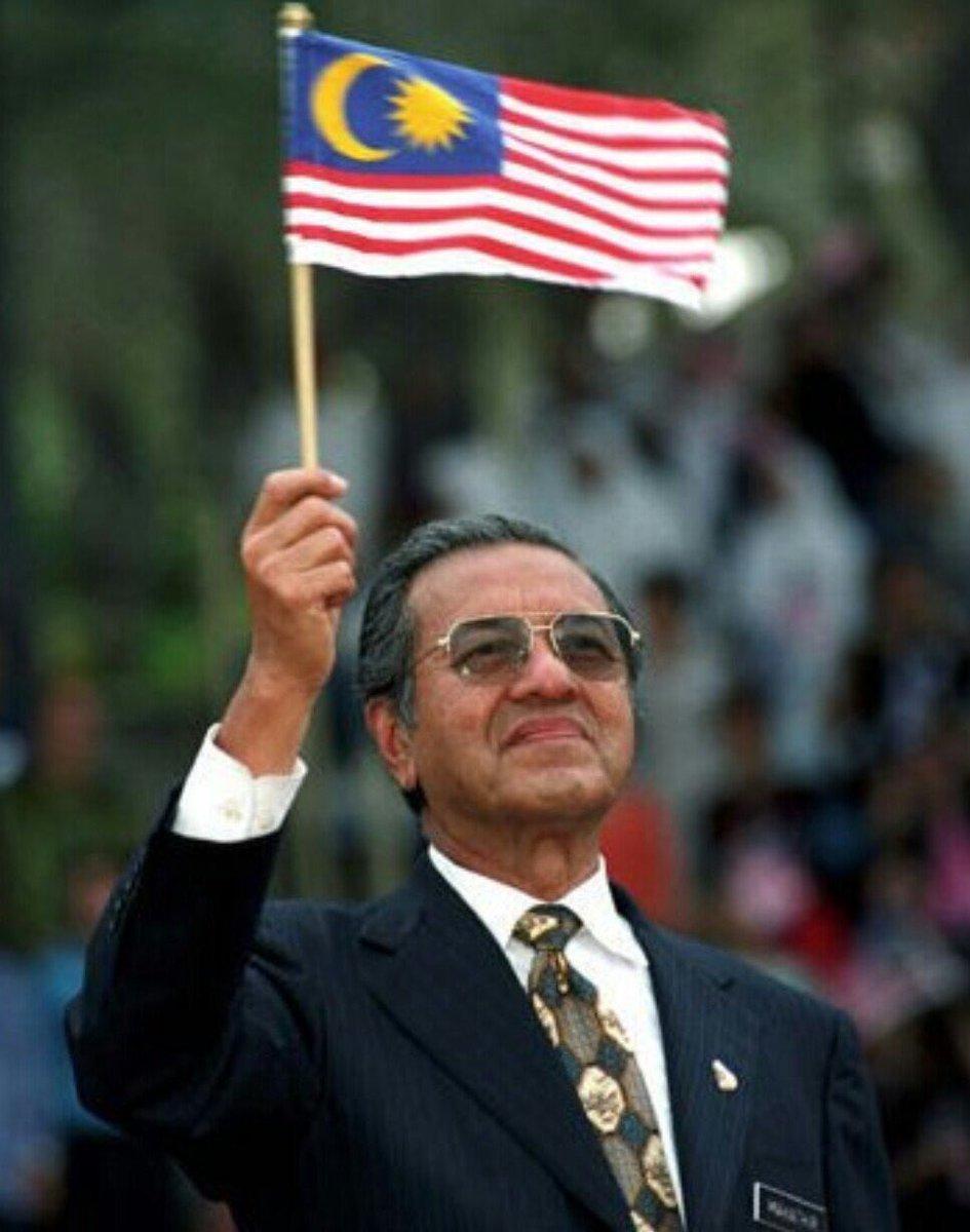 Mahathir Malaysia flag