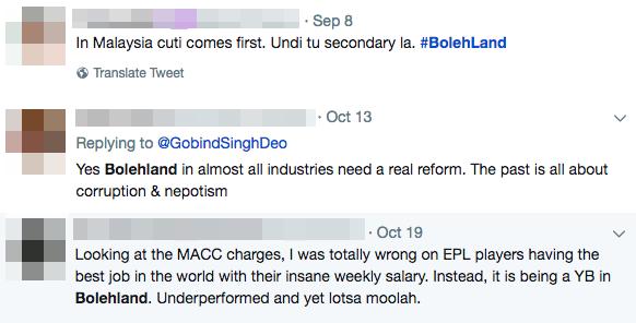 Bolehland tweets