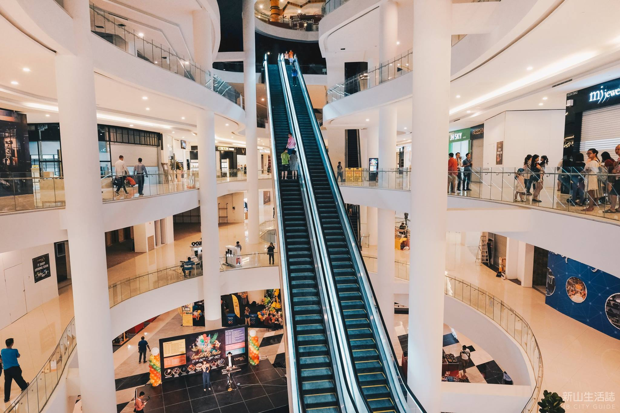 Photo of a newly opened shopping mall in JB called Capital 21.