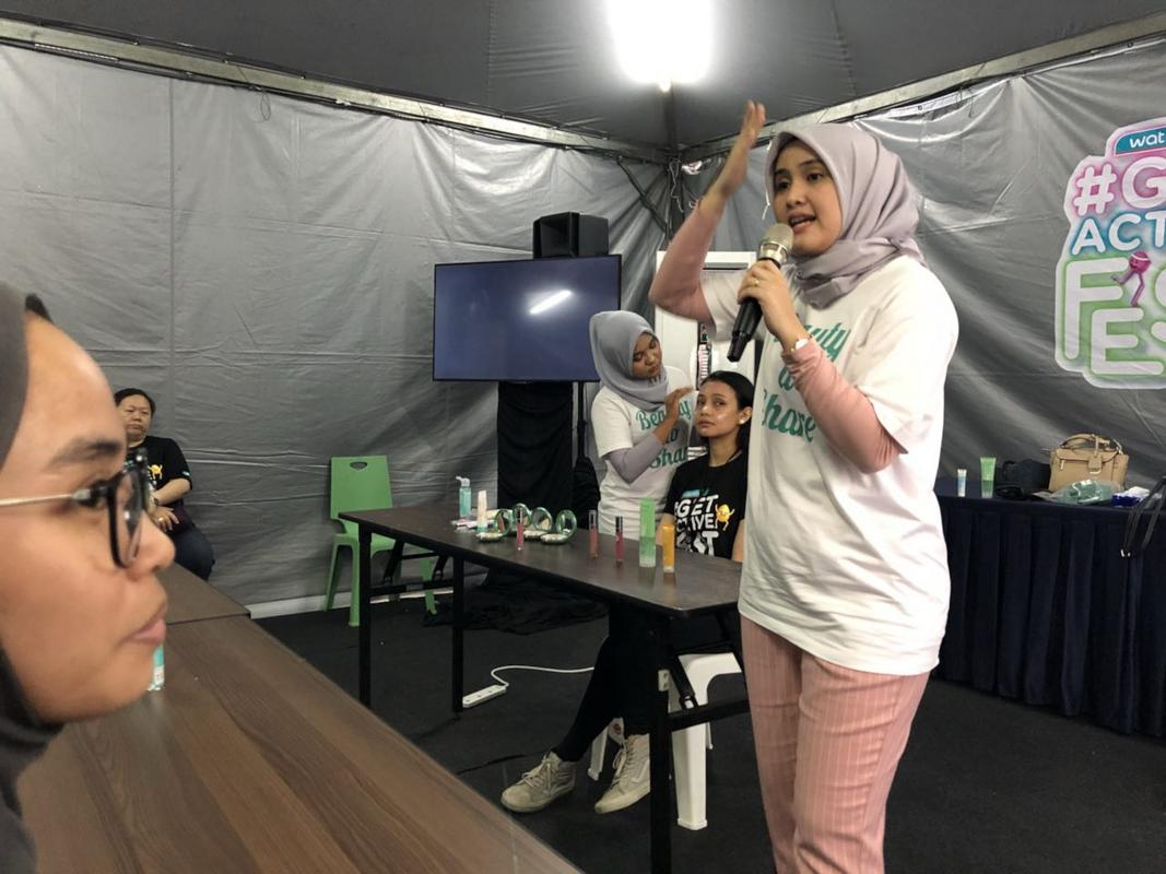 watsons get active fest 2018 makeup tutorial workshop by wardah
