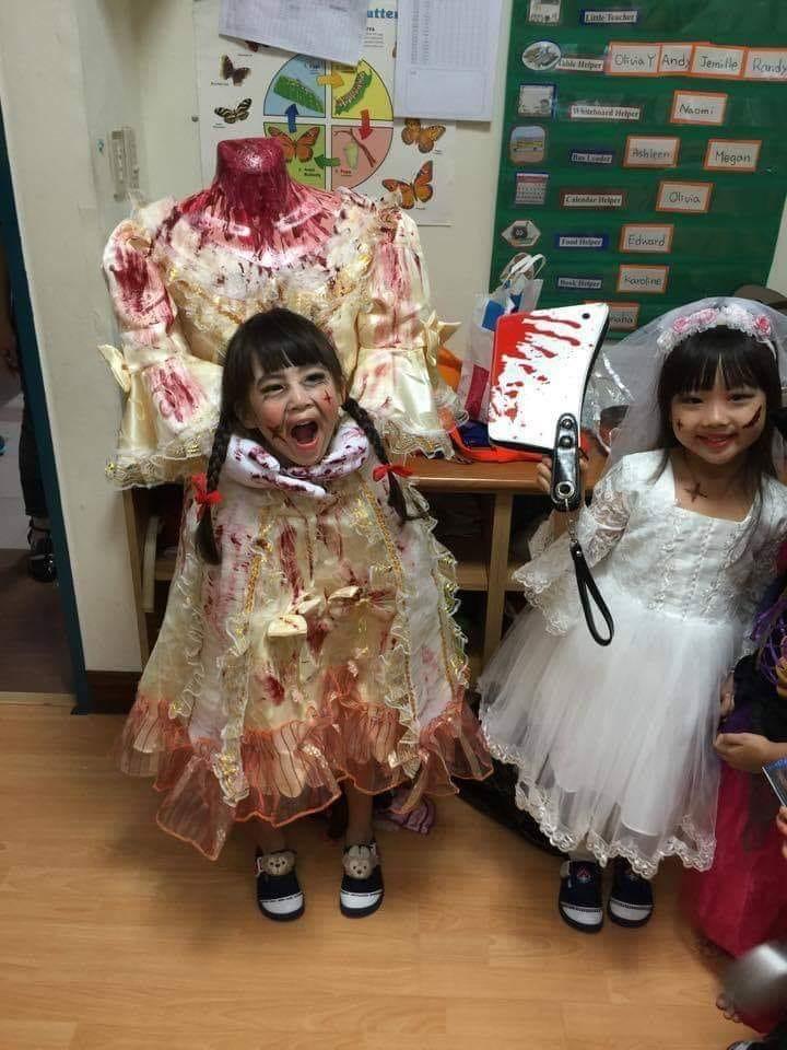 Headless Victorian girl Halloween costume