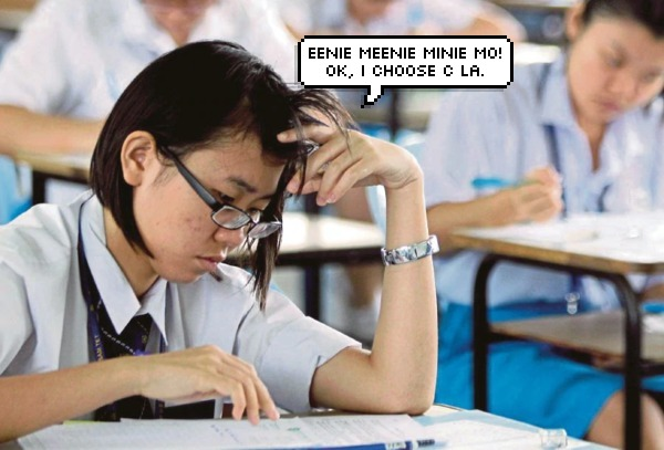 malaysian students confused in exam