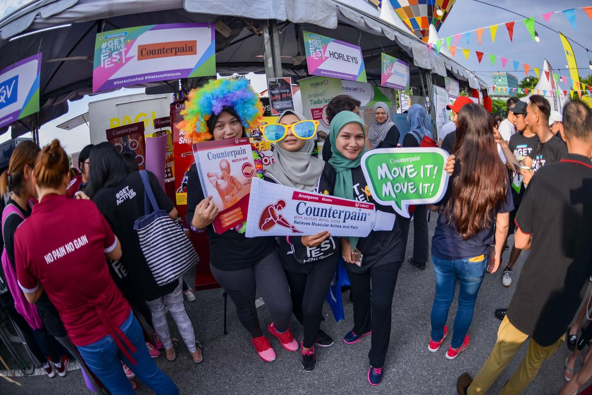 watsons get active fest 2018 brand booths