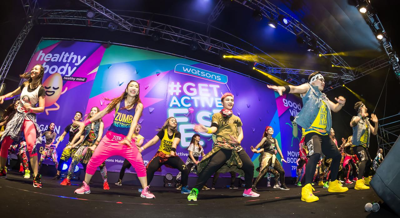 watsons get active fest 2018 move your body zumba