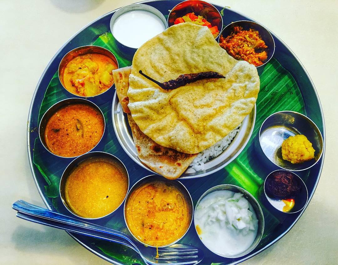Saravanaa Bhavan Banana Leaf Rice