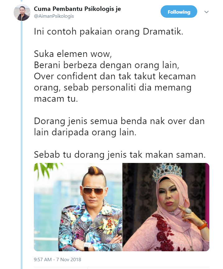 Image from Twitter @AimanPsikologis
