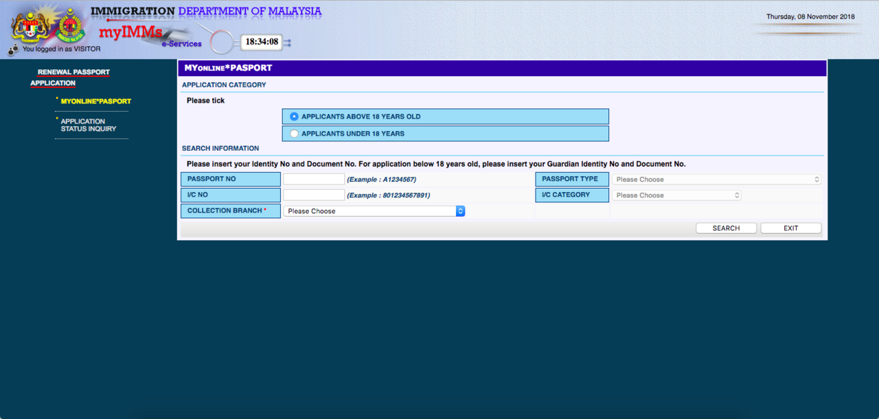 Image from My Online Passport/Immigration Department of Malaysia