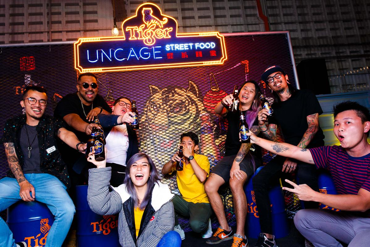 guests having fun at tiger uncage street food festival 2018
