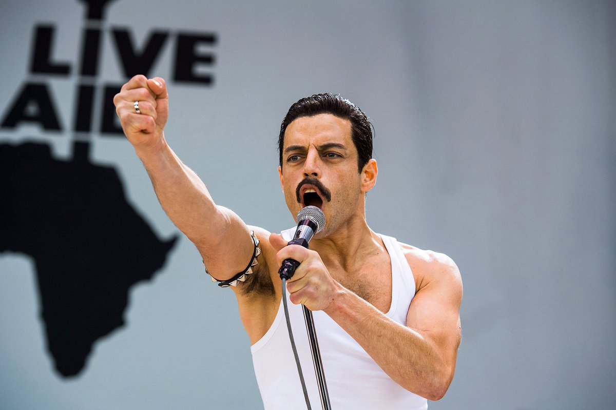 Rami Malek as Queen frontman Freddie Mercury in Bohemian Rhapsody