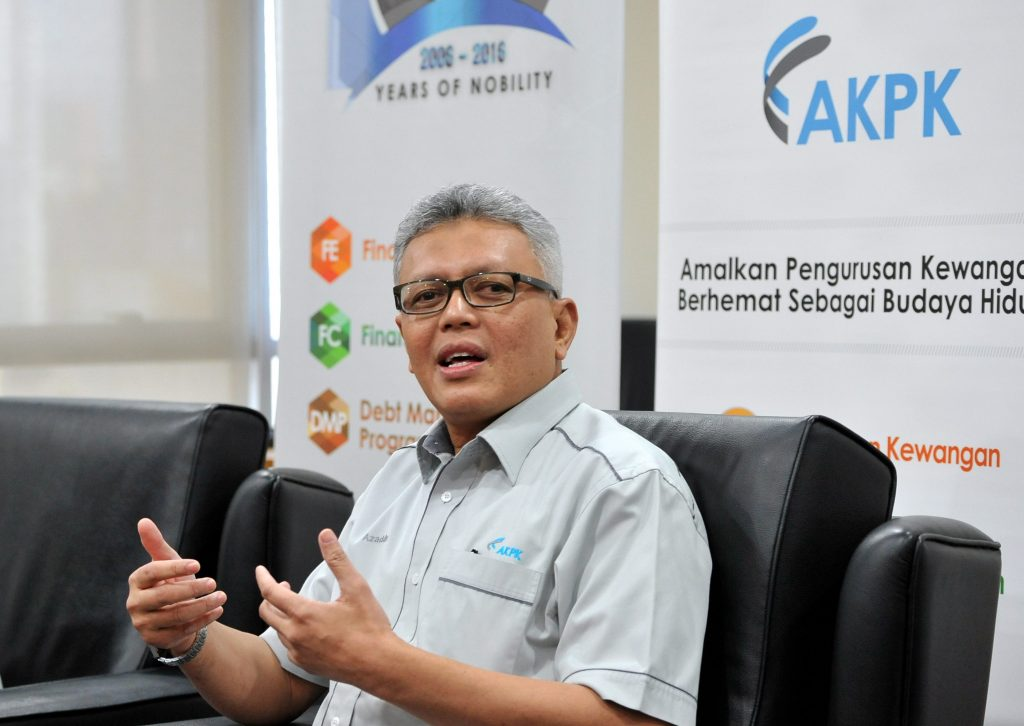 File photo of AKPK CEO Azaddin Ngah Tasir.