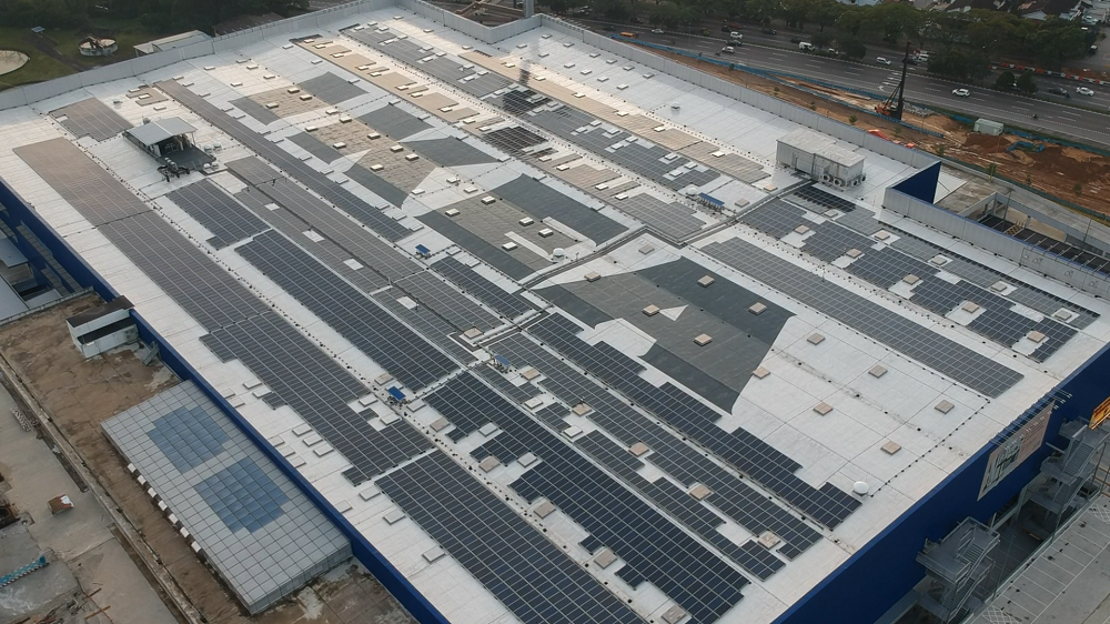 IKEA Tebrau solar panels by Plus Solar