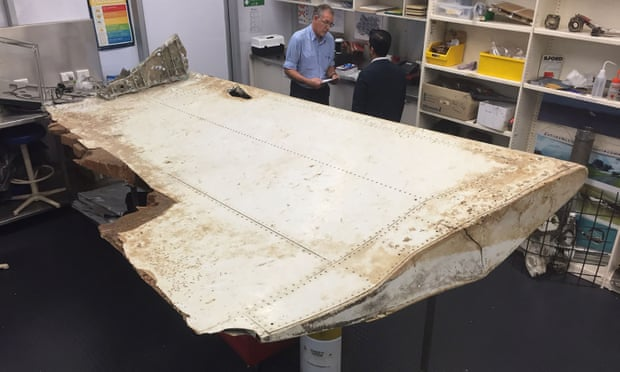A large piece of debris found in Tanzania which has been confirmed as a part of a wing flap from missing Malaysia Airlines passenger jet MH370.
