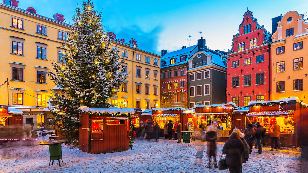 Stockholm's old town is named Gamla Stan, and is known for its magical Christmas market.