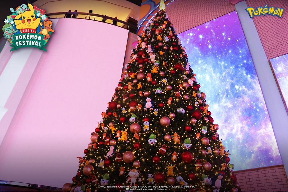 pokemon christmas tree at the pokemon festival in resorts world genting