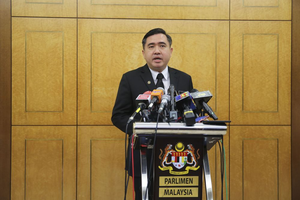 Transport Minister Anthony Loke.