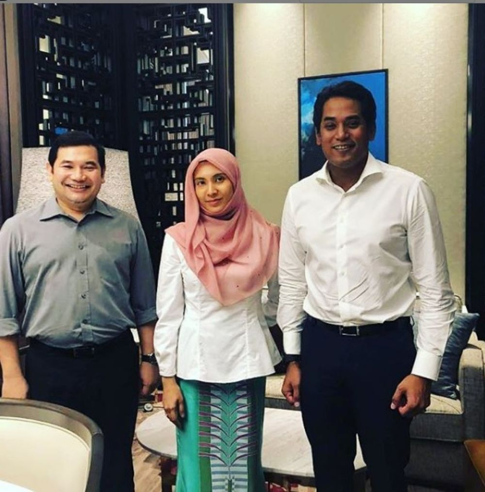 Rafizi, Nurul Izzah, and Khairy at their recent lunch.