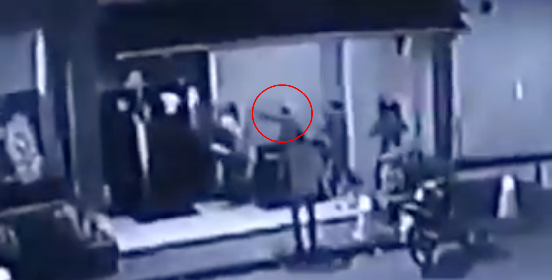 The attack on Edward was caught on CCTV.