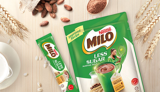 Milo Less Sugar sachets