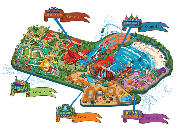 Floor plan of Desaru Coast Adventure Waterpark