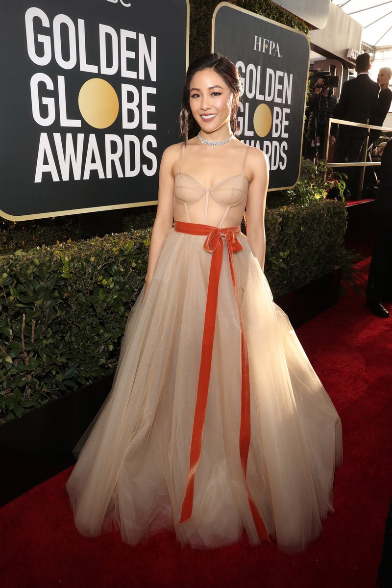Constance Wu on the red carpet at the 76th Golden Globe Awards.