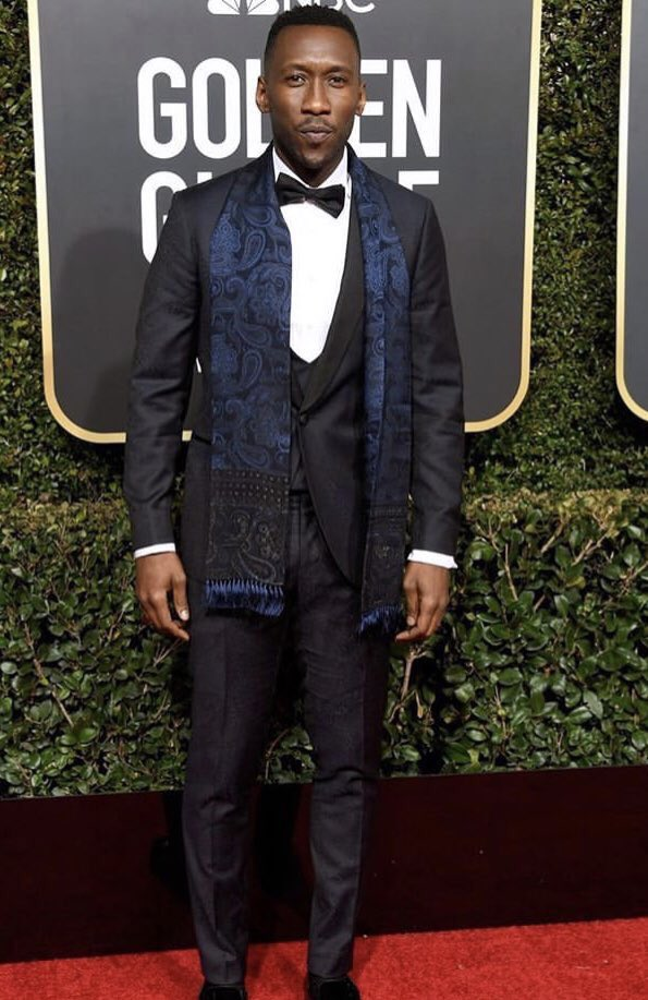 Mahershala Ali on the red carpet at the 76th Golden Globe Awards.