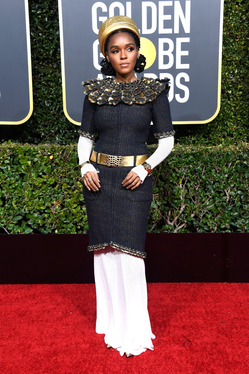 Janelle Monae on the red carpet at the 76th Golden Globe Awards.