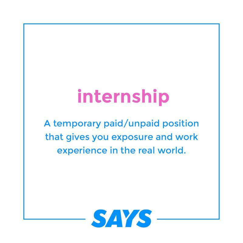 Hire Me Lah: Internship definition