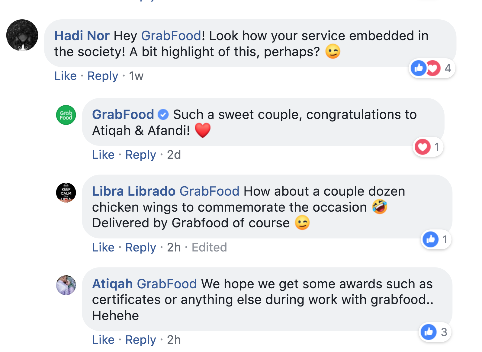Image from Facebook GrabFood Malaysia