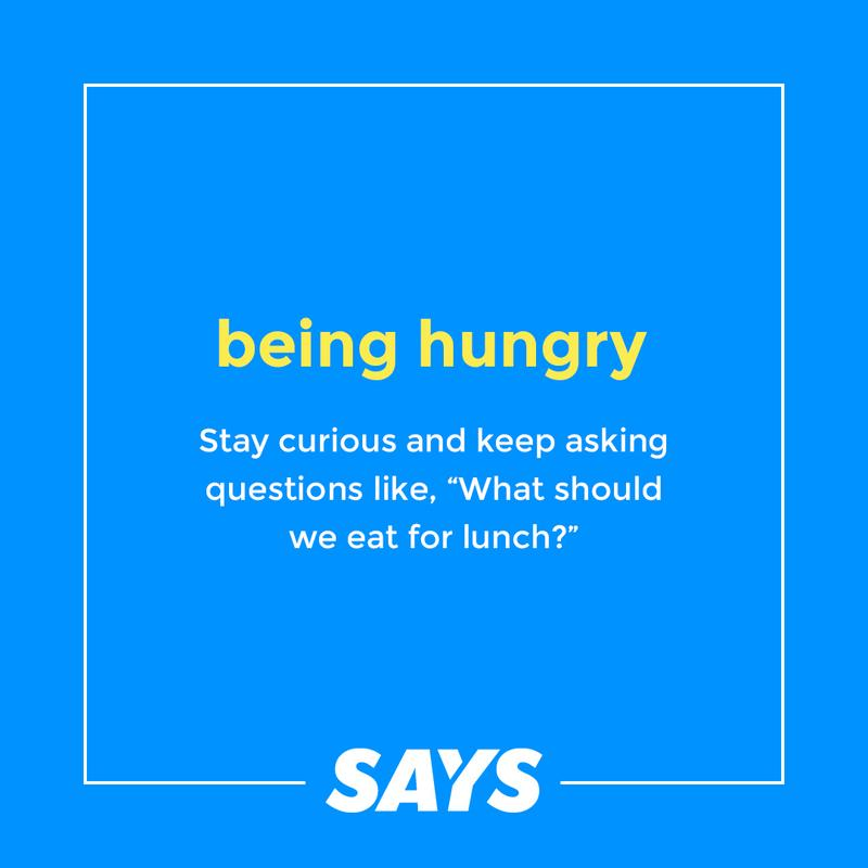 Definition of being hungry
