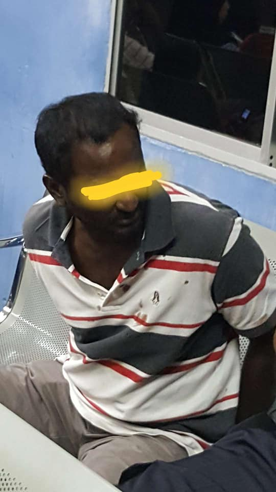 One of the suspects arrested.