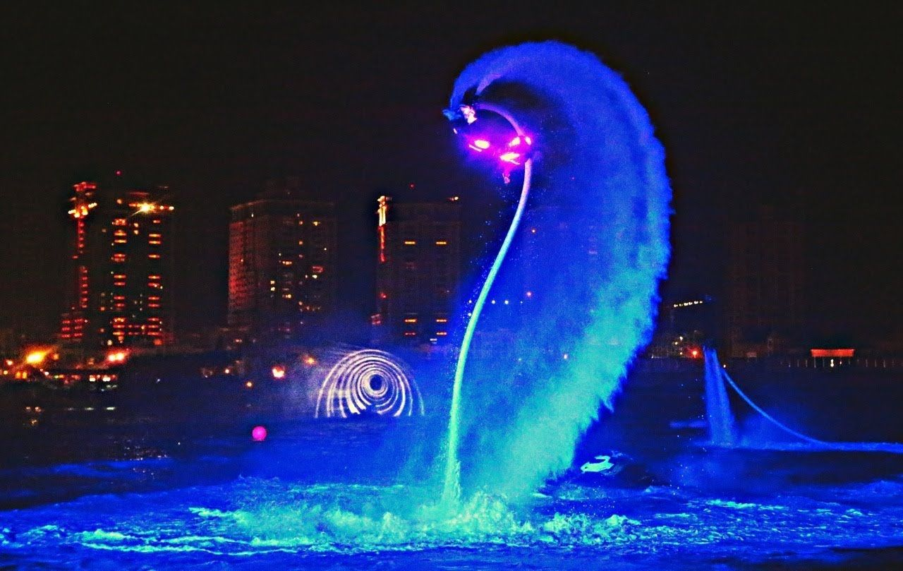 jetski and flyboard show