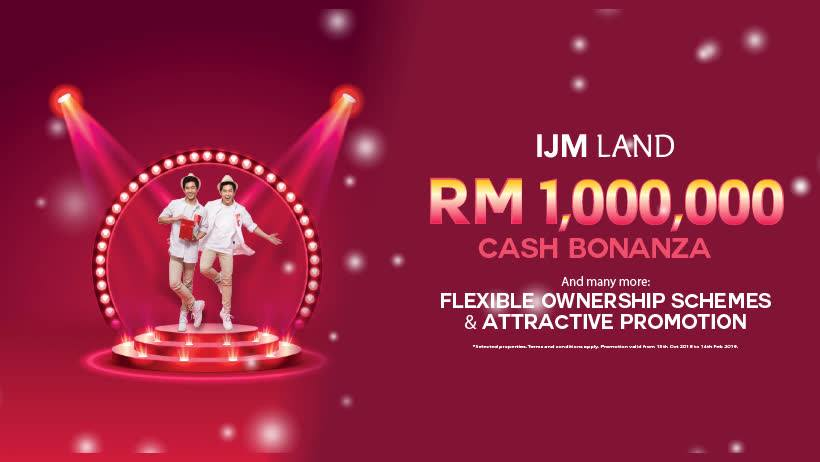 ijm land 1 million cash bonanza