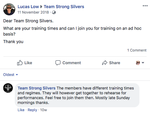 Image from Team Strong Silvers