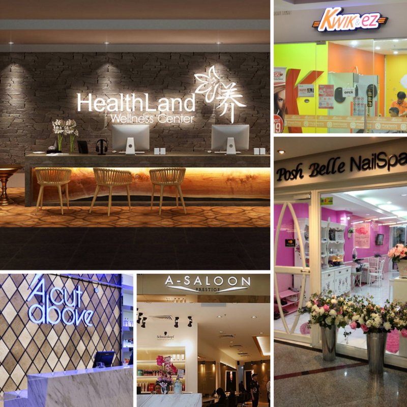 Image from HealthLand, Klang Parade, A Cut Above, A-Saloon, MyPlayPlay