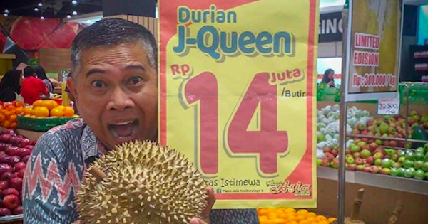 Aka and his durian.