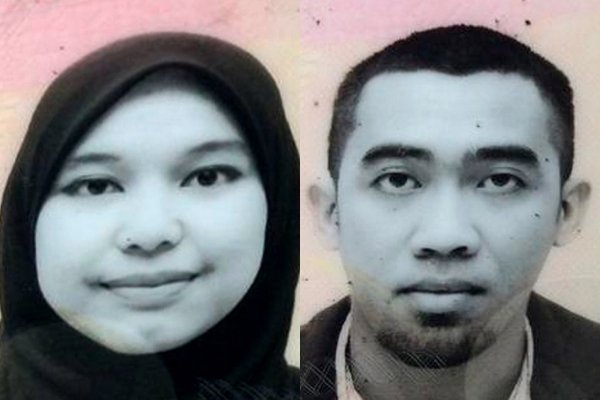 28-year-old Norwahidah Abdul Hamid and 35-year-old Wan Mohd Baharul Nizam Wan Bakar.