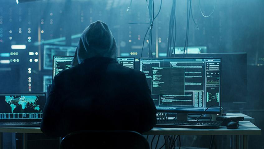 Ethical hacker in hoodie