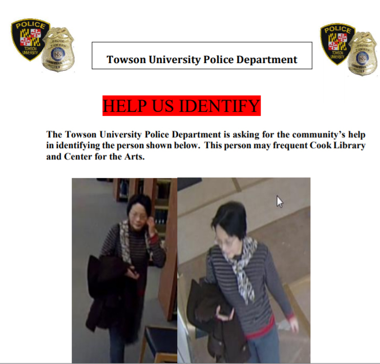 Image from Towson University Police Department