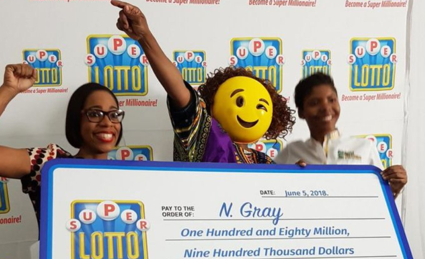 Last year, a lottery winner wore a winking emoji mask when she picked up her cheque.