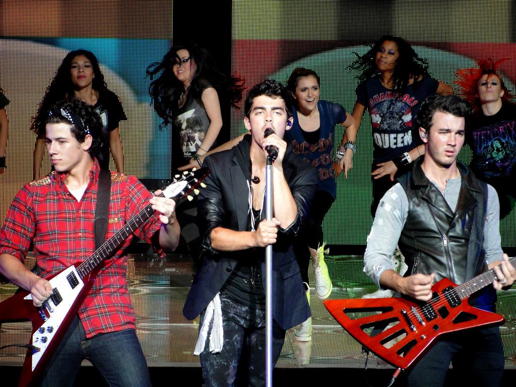 Jonas Brothers performing in 2010.