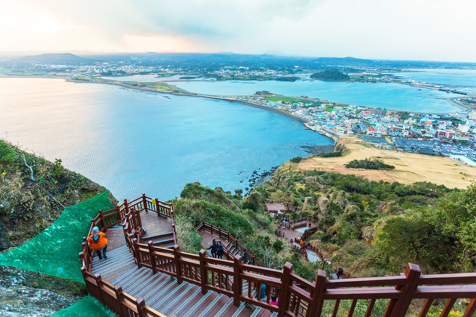 Hike up Seongsan Ilchulbong for a stunning ocean view.